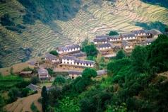 Gurung-landsby/Dag Norling