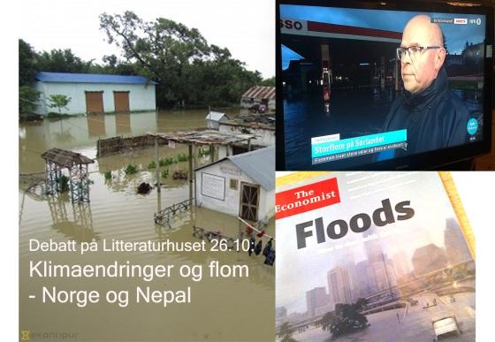 Flom og klimaendringer - Norge og Nepal