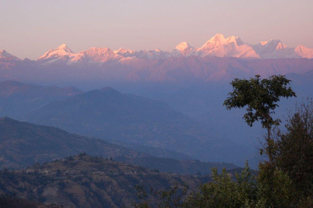 Utsikt mot Himalaya, Nepal, foto Ingunn Ødegaard